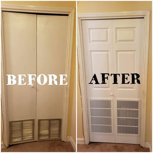 New closet doors!
