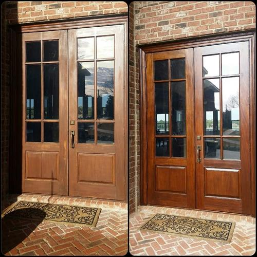 Amazing re-finished door!