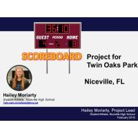 Twin Oaks Soccer Score Board Fundraiser