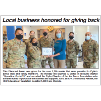 Diamond Award presented by Eglin AFB to Holiday Inn Express & Suites in Niceville