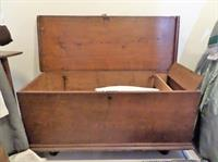 1700's Virginia Pine Chest; Plantation made.