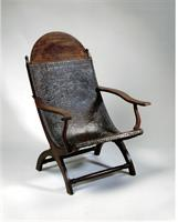 James Madison's Campeche Chair.  Circa 1820.