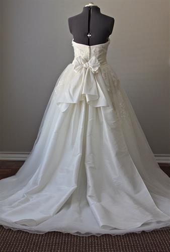 Wedding Gown Train Down