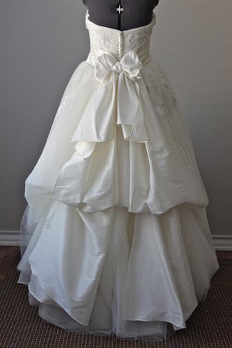 Wedding Gown Bustled Up