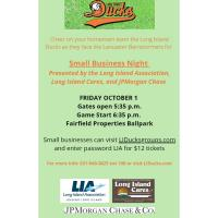 The Long Island Association, Long Island Cares, and JPMorgan Chase Team Up with the Long Island Ducks for Small Business Night