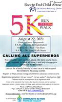"""5th Annual """"Race to End Child Abuse"""" 5K"""