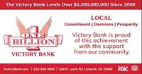 The Victory Bank Tops $1 Billion in Lending to Local Businesses and Individuals