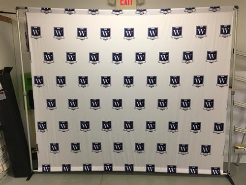 Step & repeat photo backdrop