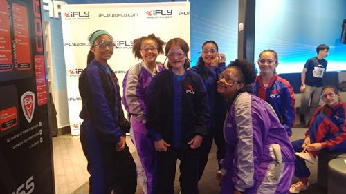 Pottstown seventh graders learning about aerodynamics at iFly.