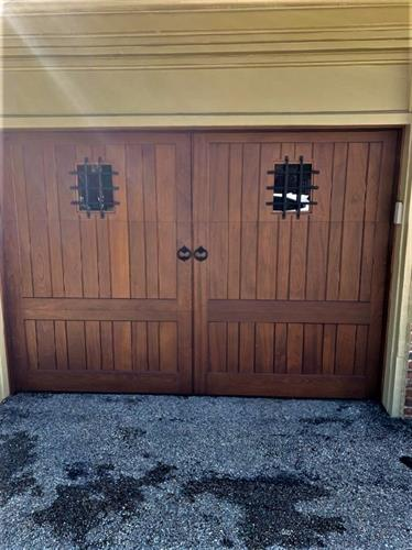 Artisan Doors with Custom Hardware installed