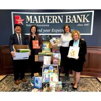 Malvern Bank, National Association Donates 500 Books to Support Academic and Social Success