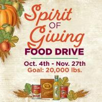 American Heritage Invites Members and the Community to Take Part in the 8th Annual Spirit of Giving Food Drive