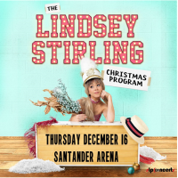 Lindsey Stirling is returning to Reading, PA for a show at the Santander Arena on December 16, 2021