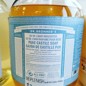 Bulk Castile Soap sold by the ml