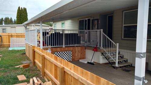 Fencing and new deck