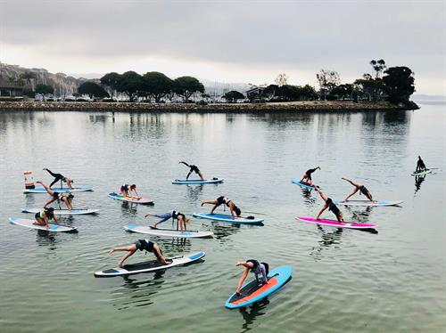 SUP Yoga with iHeartYoga