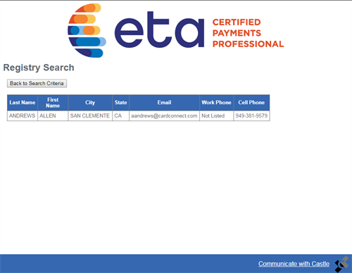 Electronic Transactions Certified Payment Professional-ETA CPP™.