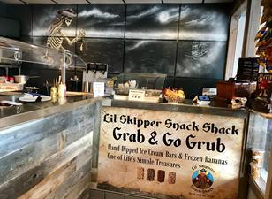 Lil' Skippers Snack Shack Grab and Go Grub Hot Dogs, Ice Cream, Beverages, and Sundries