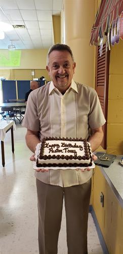 Celebrating Pastor Tony's birthday
