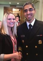 Trish Doering meeting the US Surgeon General