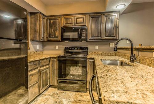 Granite counter tops and open concept living spaces