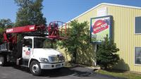 Our office and 75' aerial basket truck.