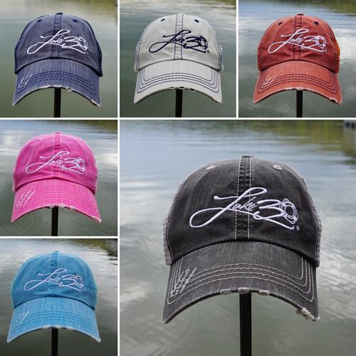 Customer Favorite - LAKE30® Distressed Trucker Hats available in 6 colors! Shop online at Lake30.com  #lake30
