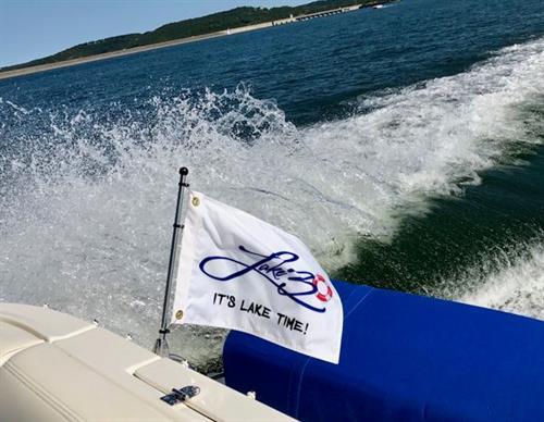Lake30® Boat Flag - It's Lake Time!