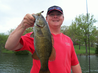 Guide Chris with a nice smallmouth