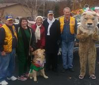 Lions Leaders at the 2016 Christmas parade