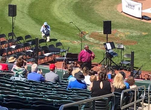 The Jesus Movement at Hammons Ball park with Presiding Bishop