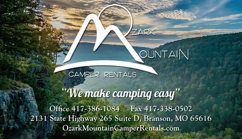 Ozark Mountain Camper Rentals,LLC.