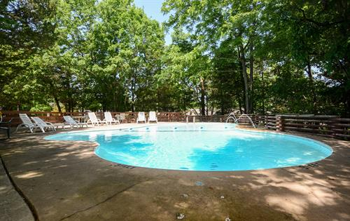 Our pool in the forest at Timber Top.