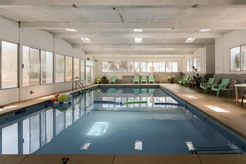 Our indoor heated pool.