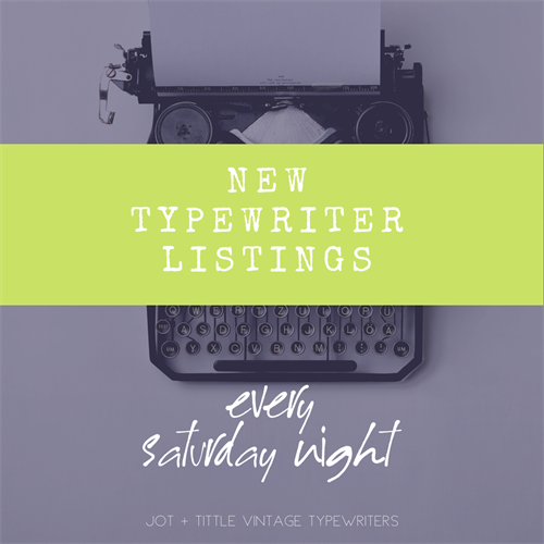Social graphic for client: Jot & Tittle Typewriters
