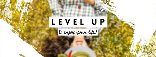 Facebook cover photo for mentoring client: Level Up Lifestyle