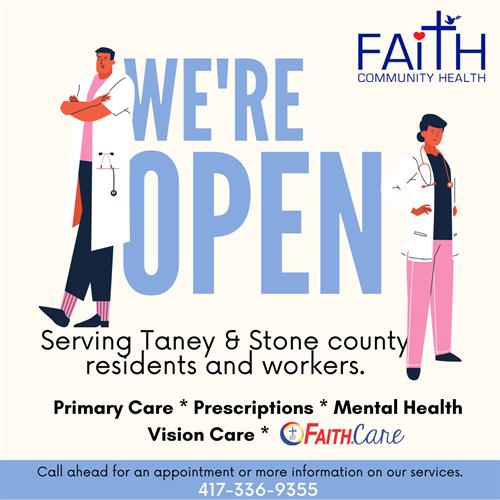 Social Media graphic for CLIENT: Faith Community Health