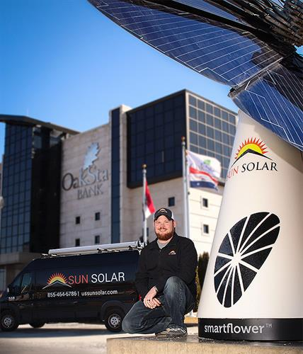 Oakstar Bank Smartflower Springfield MO - Sun Solar CEO & Founder