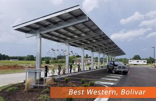 Best Western Bolivar MO Carport