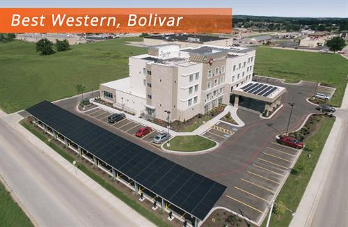 Best Western Bolivar MO Drone Site showing roof mount and top of carport