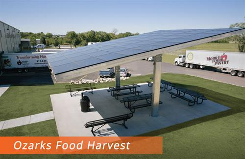 Ozark Food Harvest Springfield MO  Employee Break area canopy