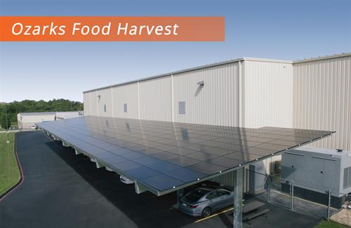Ozark Food Harvest Employee Parking Canopy