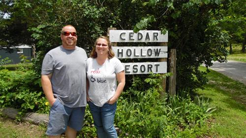 James and Lisa at Cedar Hollow Resort