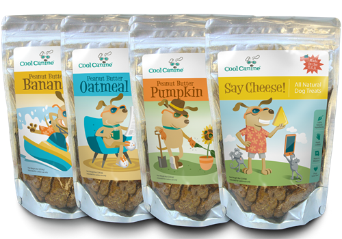 Cool Canine Natural Dog Treats Classic 4-Pack