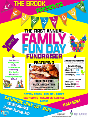 Family Fun Day Event July, 24, 2021