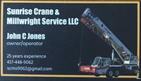 Sunrise Crane & Millwright Service, LLC