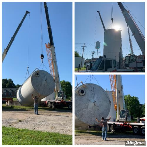 Removing and loading fuel tanks, Mt Vernon
