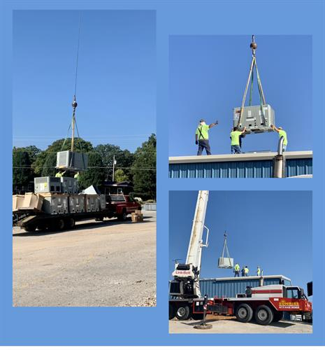 Set 10 A/C units with Long Refrigeration out of Ozark Missouri for the Elks Lodge in Kimberling City.
