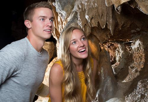 Explore cave formations up close at Talking Rocks Cavern