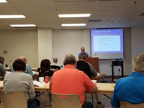 Volunteers learn how to help prepare taxes for low-income families in Stone County